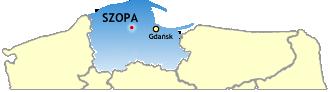 Szopa na mapie