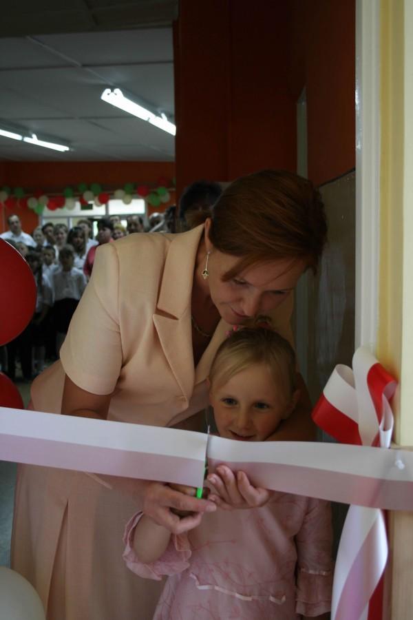 Pani Prezes Beata Złoch wraz z córką Aurelią podczas otwarcia Małego Przedszkola.